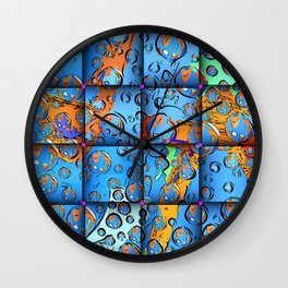 Treasure Island Map Wall Clock