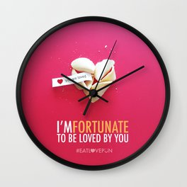 I'm Fortunate to be Loved by You Wall Clock