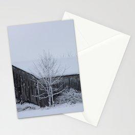 Winter Barn Scene Stationery Cards