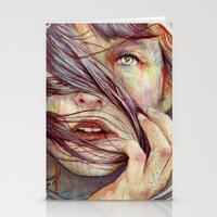 wind Stationery Cards featuring Opal by Michael Shapcott