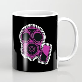 Cut out and keep gas mask — pink Coffee Mug