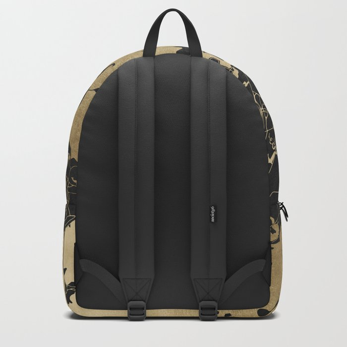Boston Gold and Black Invert Backpack