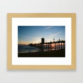 Pier at Sunset Framed Art Print