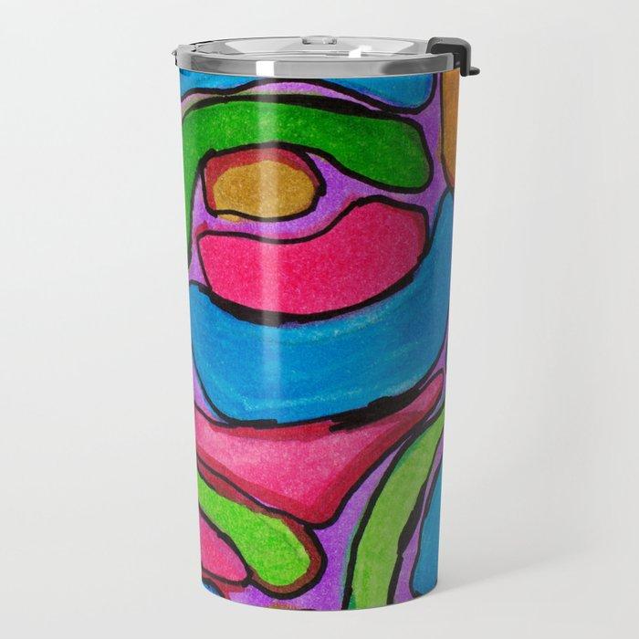Ink Abstract Travel Mug