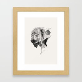 Seven Monkeys – Greed Framed Art Print