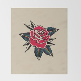 Rose Traditional Throw Blanket