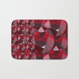 MODERN ART RED GARNET GEMS JANUARY BIRTHSTONE Bath Mat