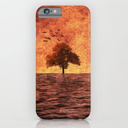 The sea of fire iPhone Case