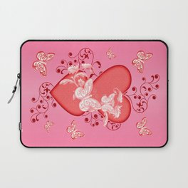 Butterflies and Hearts Laptop Sleeve