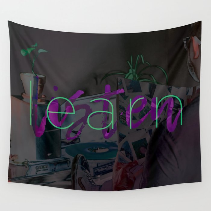 Learn / Listen Wall Tapestry