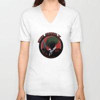 bebop V-neck T-shirts featuring Bebop Spike by AngoldArts