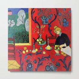 Henri Matisse Harmony in Red Metal Print