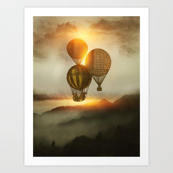 A Trip down the Sunset Art Print