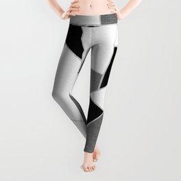 Gray Black White Geometric Glam #1 #geo #decor #art #society6 Leggings