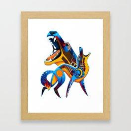 Oaxacan Coyote Framed Art Print