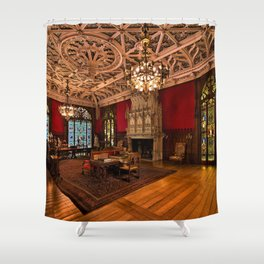 Newport Mansions, Rhode Island - Marble House - Gothic Room Shower Curtain