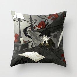 All Hallows Read Throw Pillow
