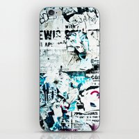 posters iPhone & iPod Skins featuring posters by Renee Ansell