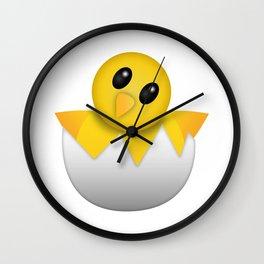 Hatching baby chick Emoji Wall Clock