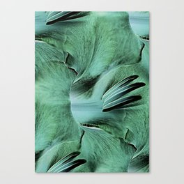 Gladioli Green Canvas Print