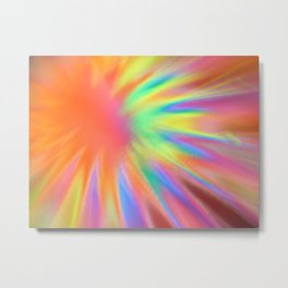 Abstract blurred light colorful Metal Print