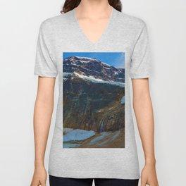 Mt. Edith Cavell & Angel Glacier in Jasper National Park, Canada Unisex V-Neck