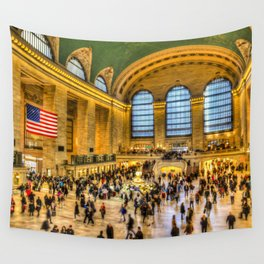 Grand Central Station New York Wall Tapestry