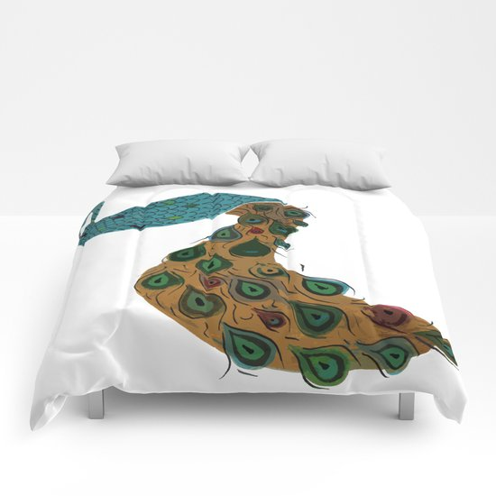 Florence the Peacock Comforters