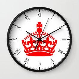Stay Calm Crown Wall Clock
