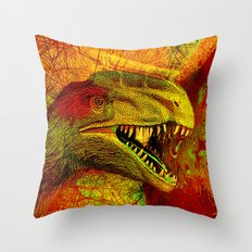 prehistoric extiction   (This Artwork is a collaboration with the talented artist Agostino Lo coco) Throw Pillow
