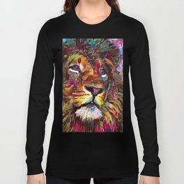 Colorful Lion Painting 2018 Long Sleeve T-shirt