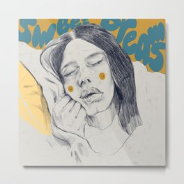 Sweet dreams illustration  Metal Print
