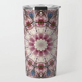 Spring blossoms, Flower Mandala, Floral mandala-style Travel Mug
