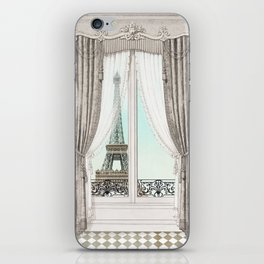 Eiffel Tower room with a view iPhone Skin