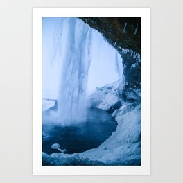Behind the Waterfall Art Print