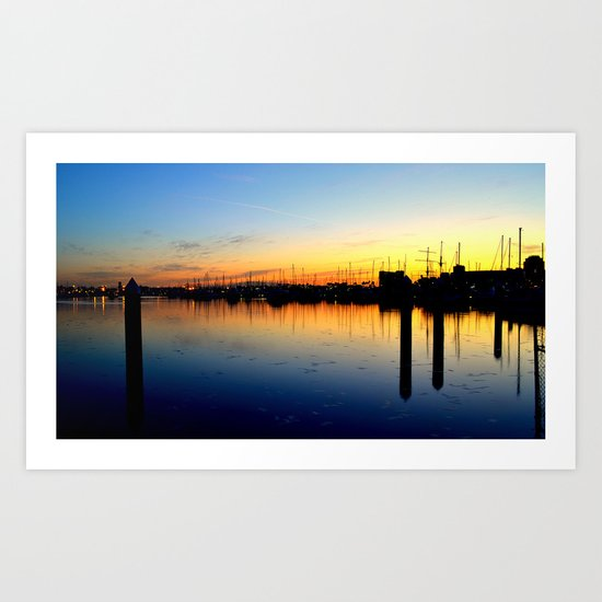 Close of Day, Over the Bay Art Print