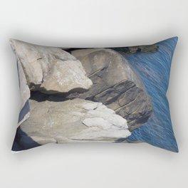 Shark and Whale Rocks at the Chesapeake Bay Tunnel Bridge Rectangular Pillow