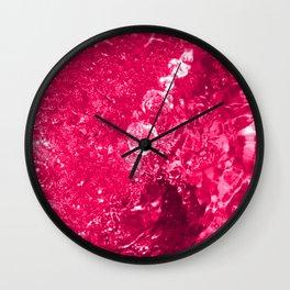 Pink Jacuzzi Bath Bubbles Wall Clock