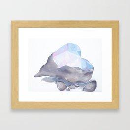 Love Hard Framed Art Print