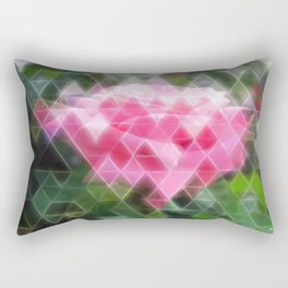 Pink Roses in Anzures 6 Art Triangles 2 Rectangular Pillow