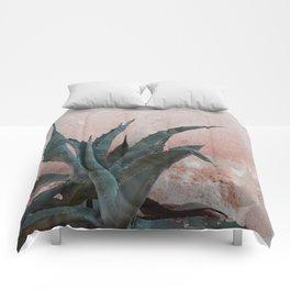 Pink Blue Cactus Comforters
