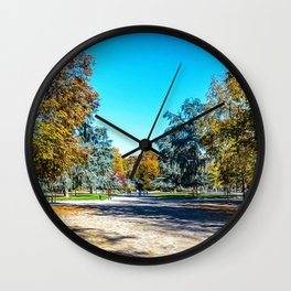 Park in the center of Milan Wall Clock