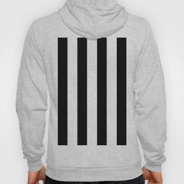 Simply Vertical Stripes in Midnight Black Hoody