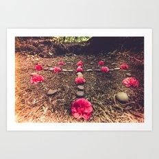 Sacred Floral Meditation in Nature Art Print