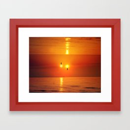 Two summers Framed Art Print