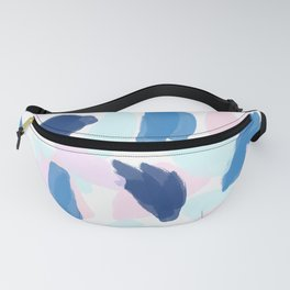 Blue and Pink Paint Fanny Pack