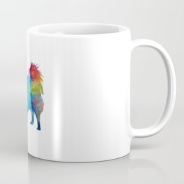 Pomeranian in watercolor Coffee Mug