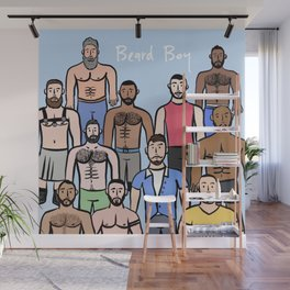 Beard Boys: Boys just wanna have fun! Wall Mural