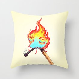 Mr. Flame Throw Pillow