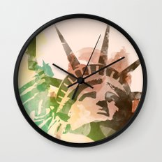 Miss Liberty Wall Clock